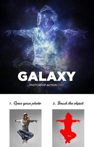GraphicRiver - Galaxy Photoshop Action