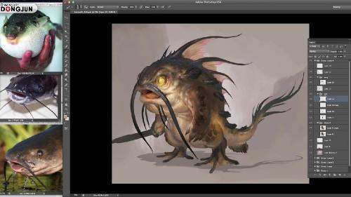 Gumroad – Lesson07 Fish & Portrait Study by Lu-Dongjun