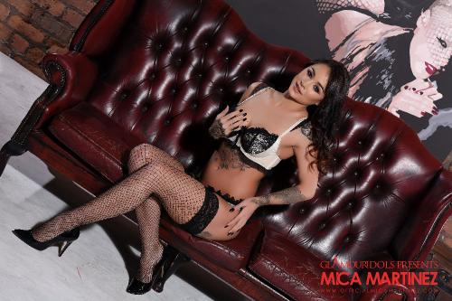 Mica Martinez In Her Sexy Lingerie And Fishnet Stockings