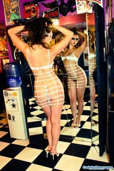 clc g091 Cage Dress Strip