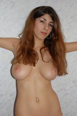 Cute amateur girl with huge natural tits posing naked. Private sexy photos