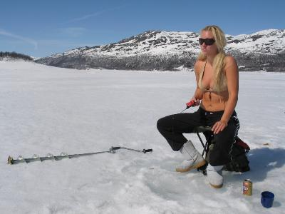 Scandinavian girl getting naked outdoor