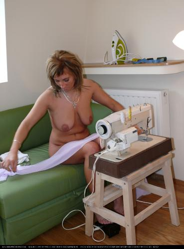 Naturist Sewing Girls