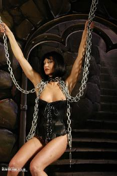 Chains and sexy lingerie