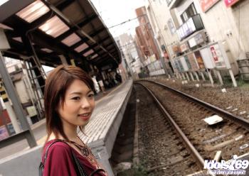 Madoka - Japanese streetwalker Madoka Is A Horny Asian Devil