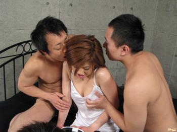Ai Aito - Ai Aito Asian model enjoys a hard fucking in a threesome