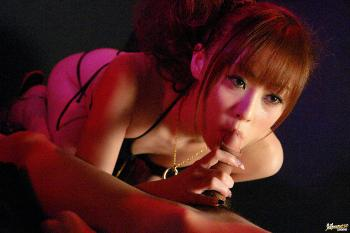 Miina Yoshihara - Miina Yoshihara Japanese model like sucking her guy's cock
