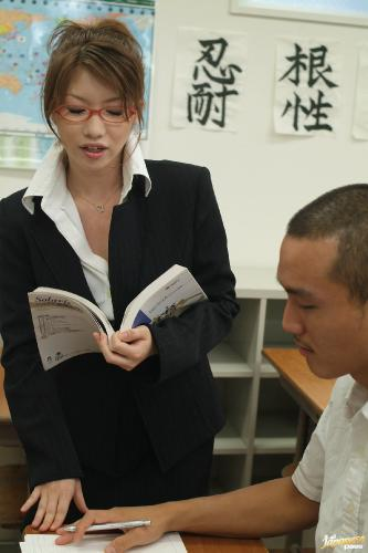 Nami Kimura - Nami Kimura Naughty Asian teacher sucks cock