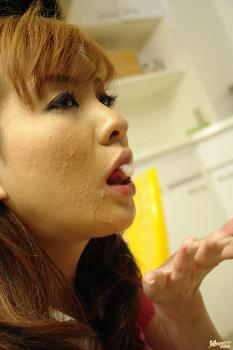 Maria Asagiri - Maria Asagiri pretty Asian chick shows off her pussy and gives blow job