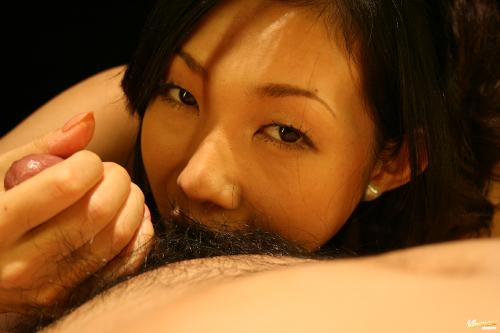 Yui Komine - Yui Komine Asian model gives sensual blow job