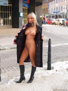 Public naked webcam